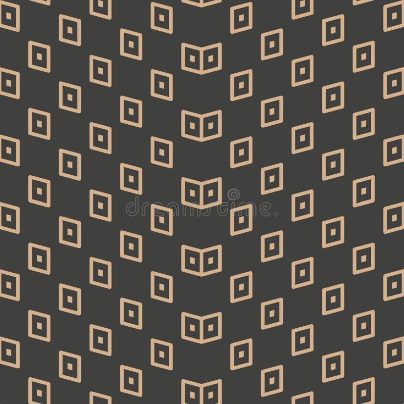 De vector van de van het achtergrond damast naadloze retro patroon lijn van de de meetkunde dwarsgolf controlepunt Het elegante o royalty-vrije illustratie