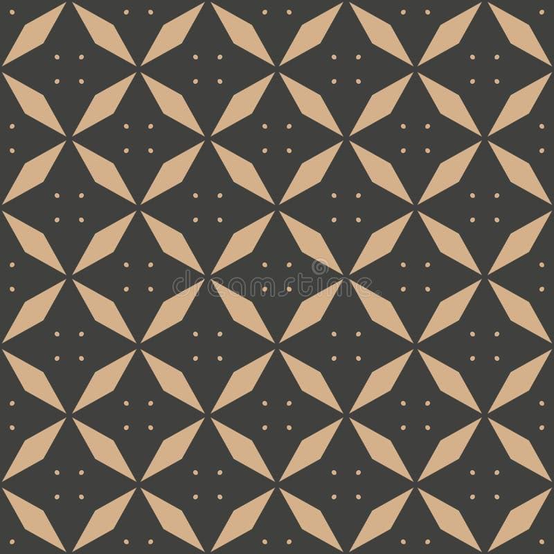 De vector van de van het achtergrond damast naadloze retro patroon punt van het de meetkunde dwarskader veelhoekruit Het elegante royalty-vrije illustratie