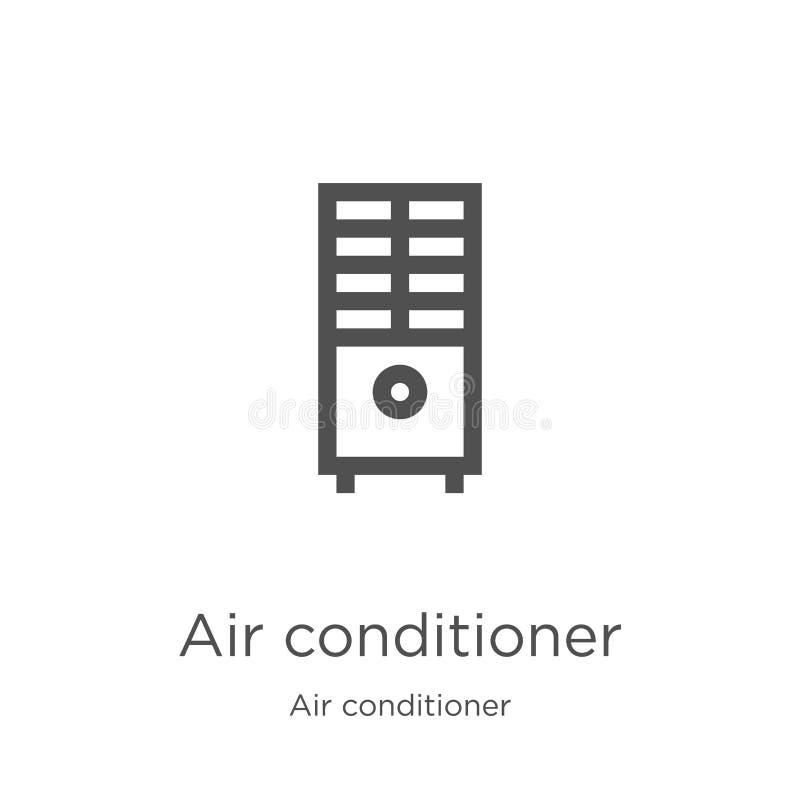de vector van het airconditionerpictogram van airconditionerinzameling De dunne van het het overzichtspictogram van de lijnaircon royalty-vrije illustratie
