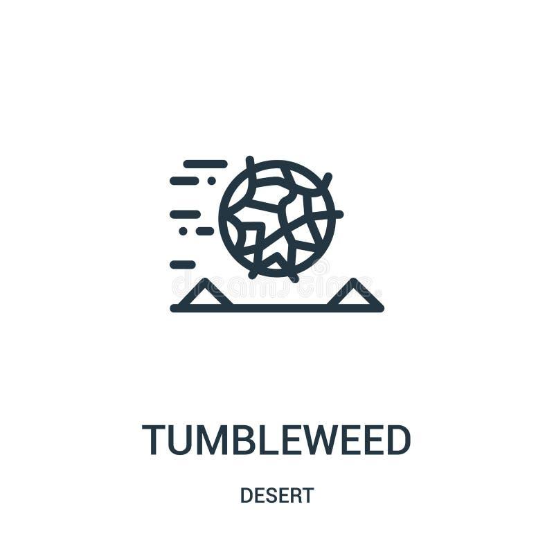 de vector van het amarantpictogram van woestijninzameling De dunne van het het overzichtspictogram van de lijnamarant vectorillus stock illustratie