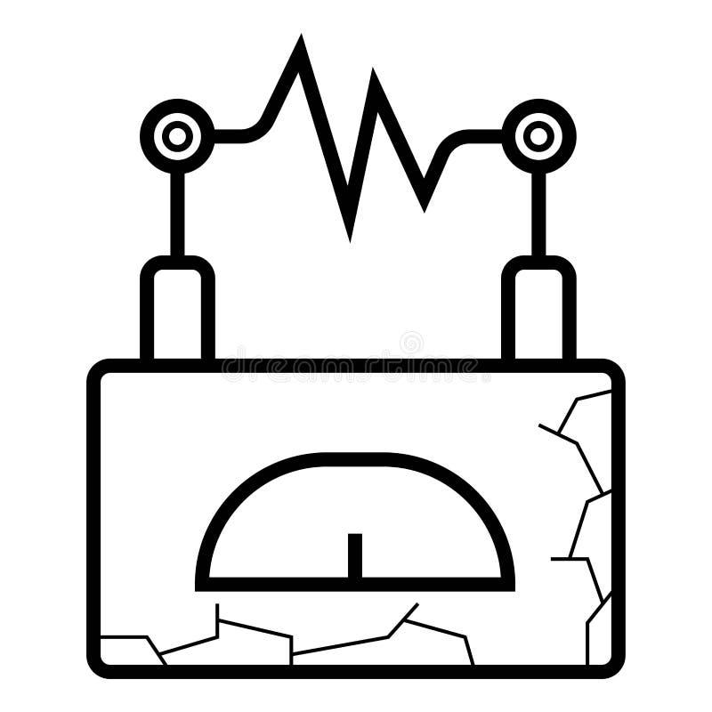 De vector van het Ampermeterpictogram stock illustratie