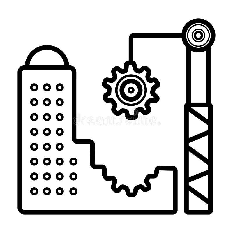 De vector van het architectuurpictogram royalty-vrije illustratie