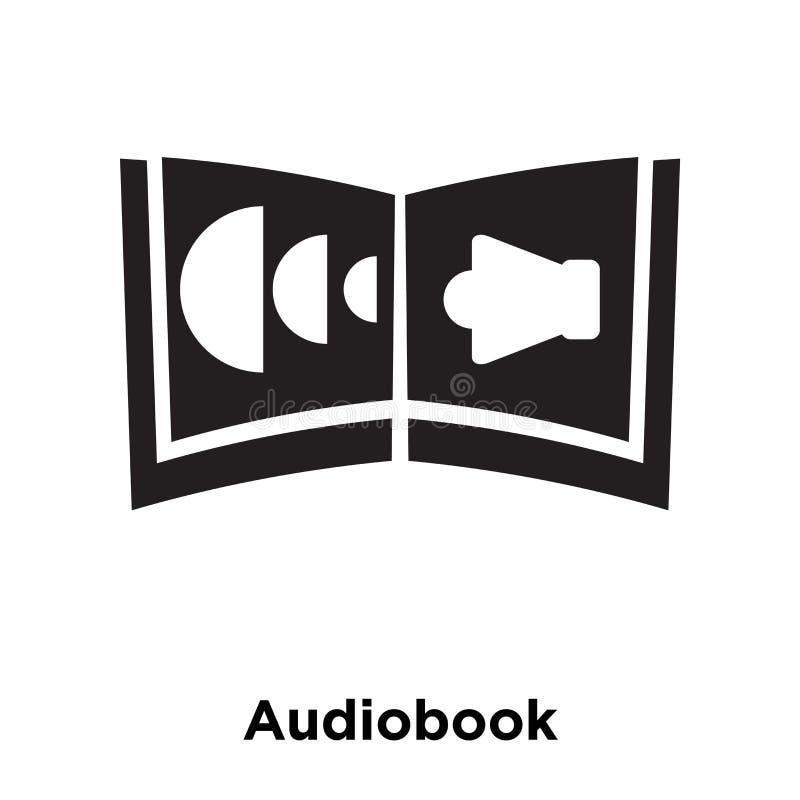 De vector van het Audiobookpictogram op witte achtergrond, embleemconcept wordt geïsoleerd dat royalty-vrije illustratie