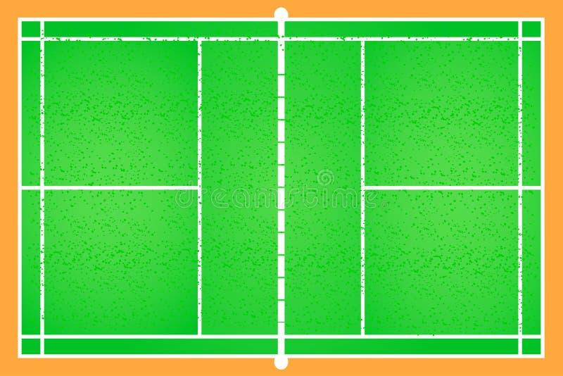 De vector van het badmintonhof royalty-vrije illustratie