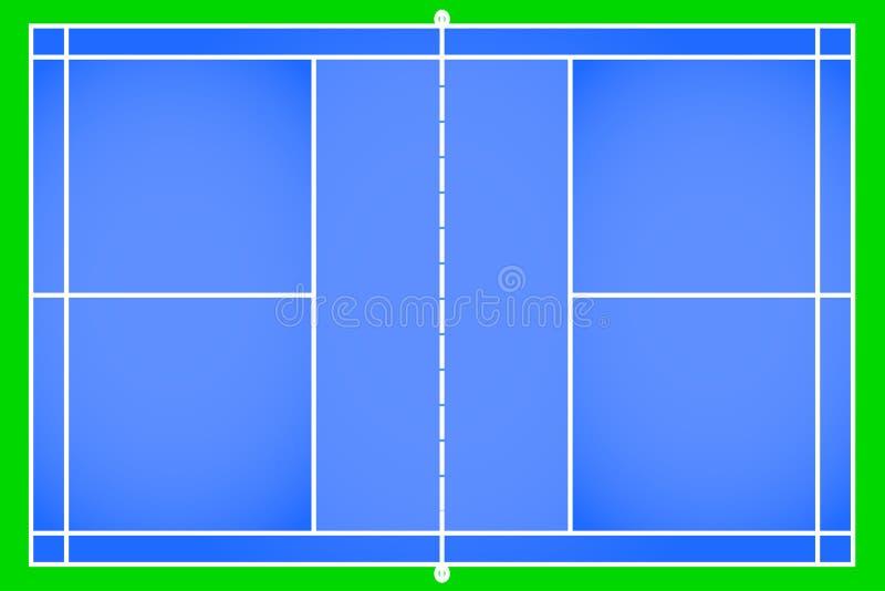 De vector van het badmintonhof vector illustratie