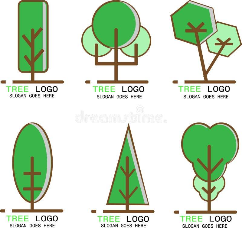De vector van het de beeldenontwerp van het boomembleem stock illustratie