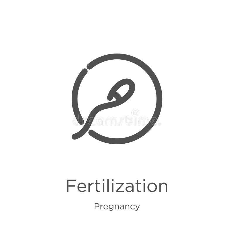 de vector van het bemestingspictogram van zwangerschapsinzameling De dunne van het het overzichtspictogram van de lijnbemesting v stock illustratie