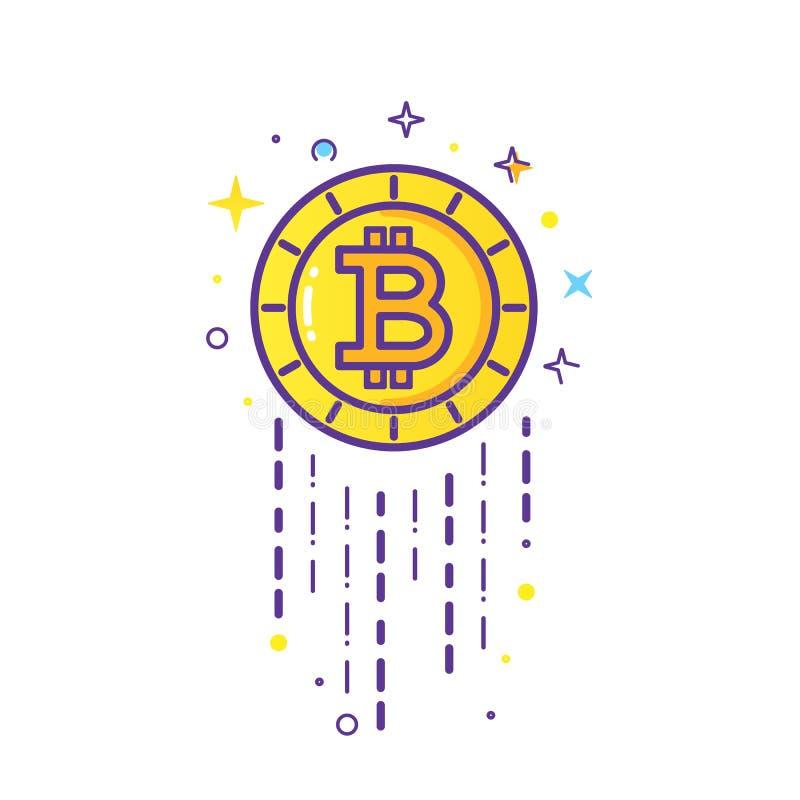 De vector van het Bitcoinembleem royalty-vrije illustratie