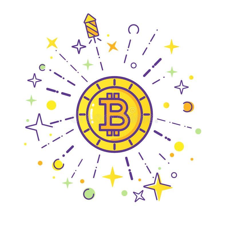 De vector van het Bitcoinembleem stock illustratie