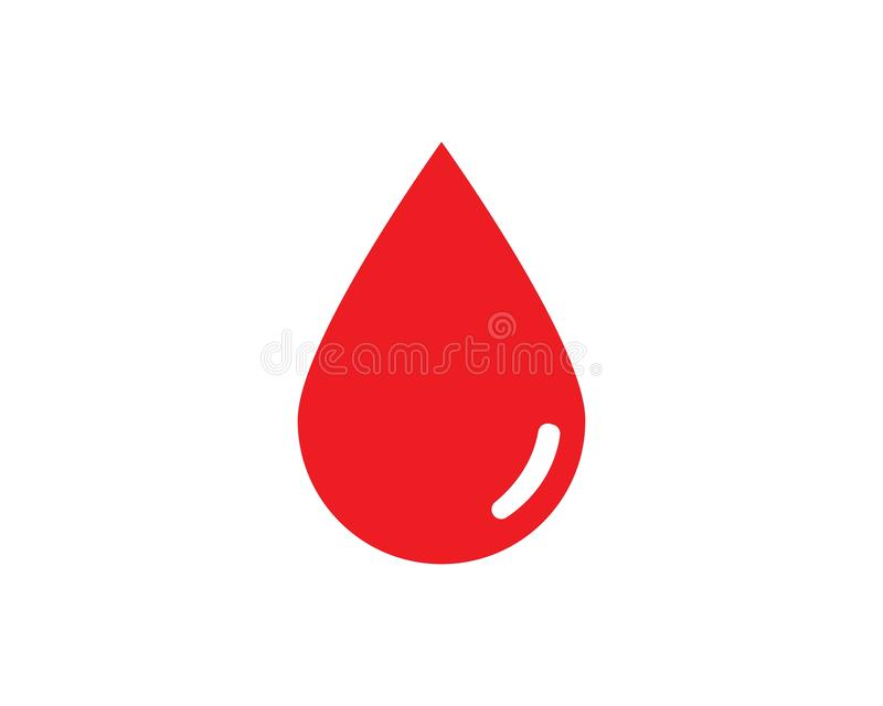 De vector van het bloedembleem royalty-vrije illustratie