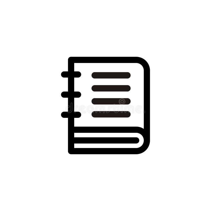 De Vector van het boekpictogram stock illustratie
