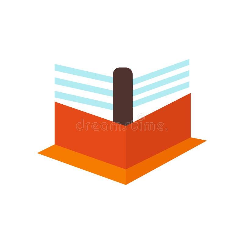 De vector van het boksringspictogram op witte achtergrond, het In dozen doen rin wordt geïsoleerd die royalty-vrije illustratie