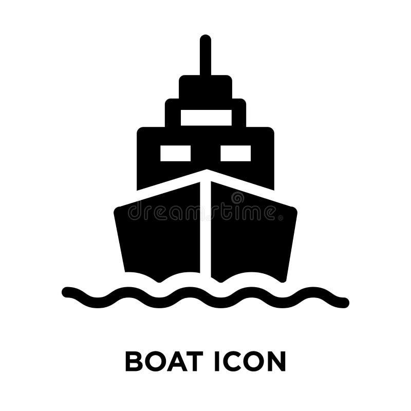 De vector van het bootpictogram op witte achtergrond, embleemconcept wordt geïsoleerd van B die stock illustratie