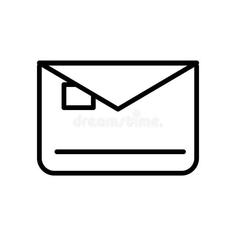 De vector van het brievenbuspictogram op witte achtergrond, Brievenbusteken, lijn of lineair teken, elementenontwerp in overzicht stock illustratie