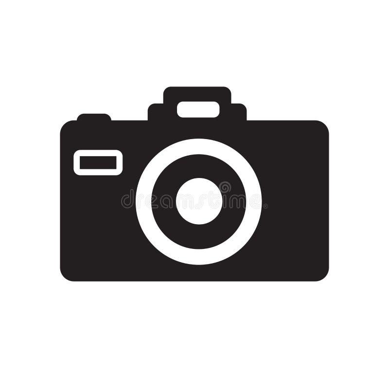 De vector van het camerapictogram op witte achtergrond, Camerateken, vakantiesymbolen wordt geïsoleerd dat vector illustratie