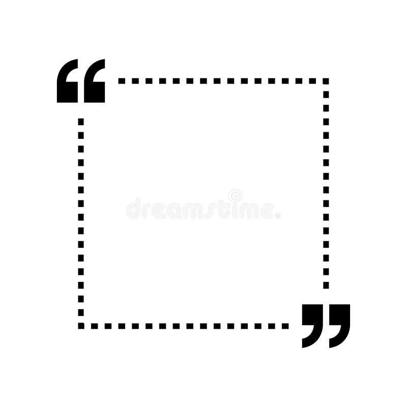 De vector van het citatenpictogram Quotemarksoverzicht, toespraaktekens, omgekeerde komma's of het spreken tekensinzameling Vecto vector illustratie