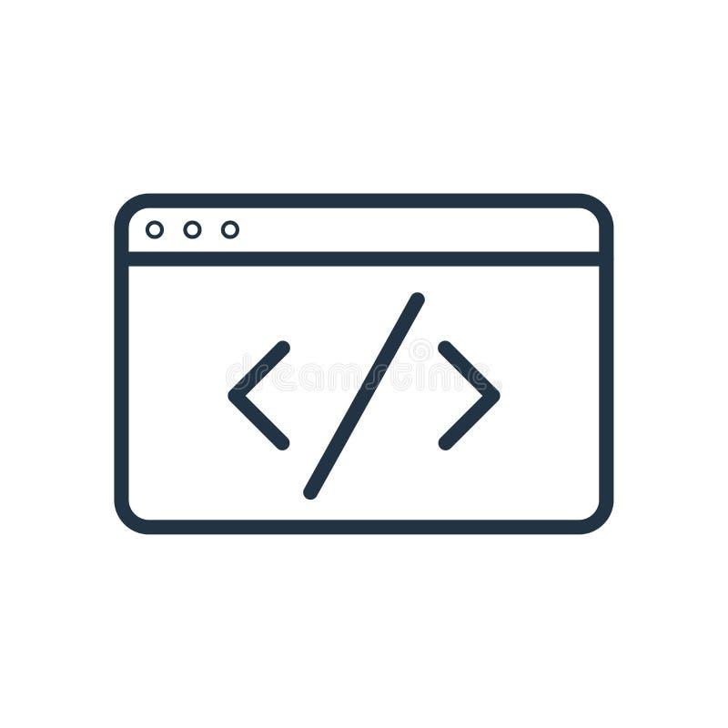 De vector van het codepictogram op witte achtergrond, Codeteken wordt geïsoleerd dat stock illustratie