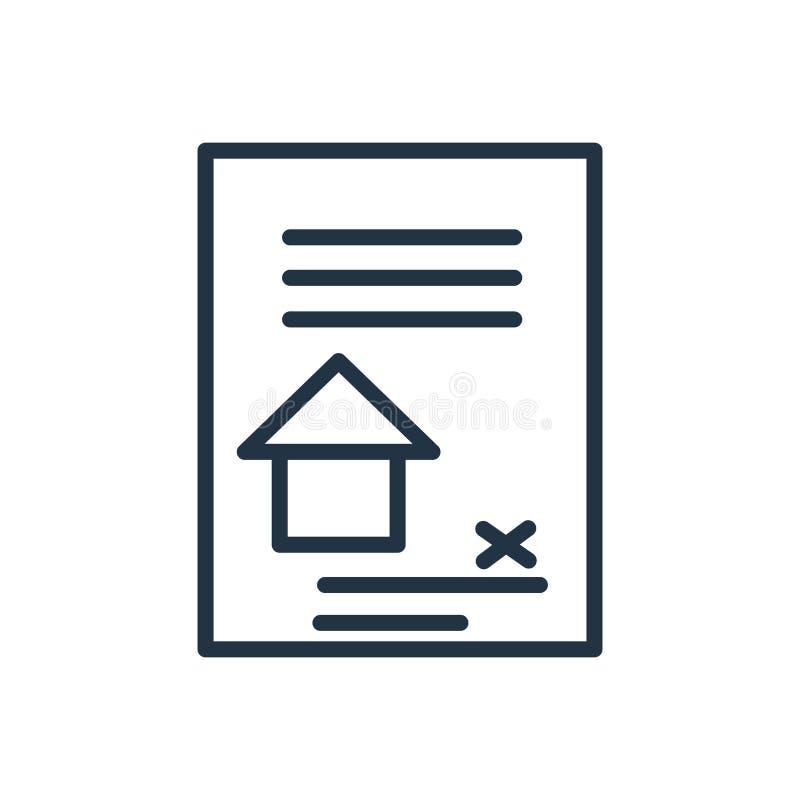 De vector van het contractpictogram op witte achtergrond, Contractteken wordt geïsoleerd dat vector illustratie