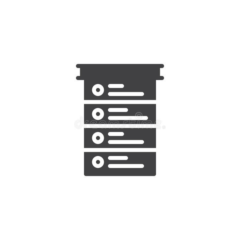 De Vector van het controlelijstpictogram royalty-vrije illustratie