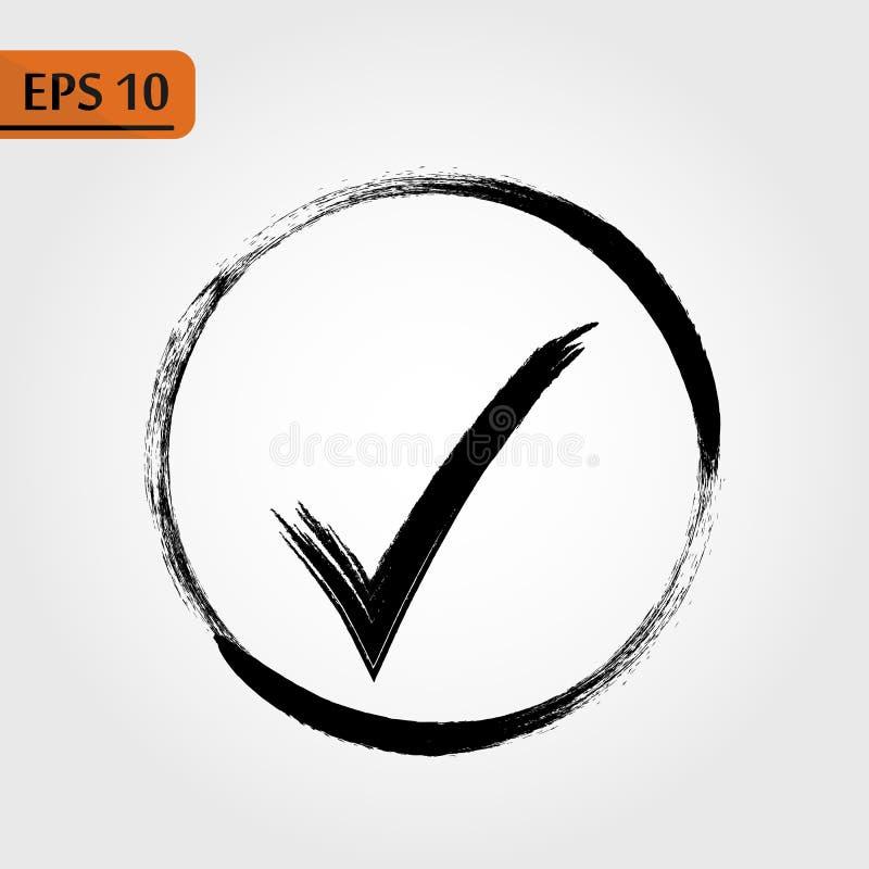 De Vector van het controlepictogram Perfecte Zwarte pictogramillustratie op witte achtergrond - Het vector vector illustratie