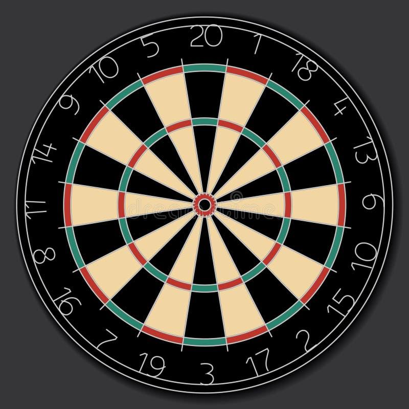 De vector van het dartboard vector illustratie