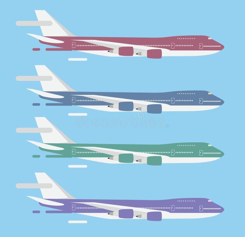 De vector van het de luchtvliegtuig van de burgerluchtvaartreis passanger royalty-vrije illustratie