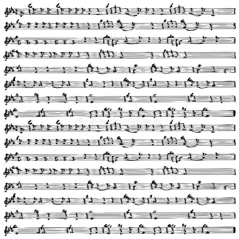 De vector van het de notablad van de muziek   vector illustratie