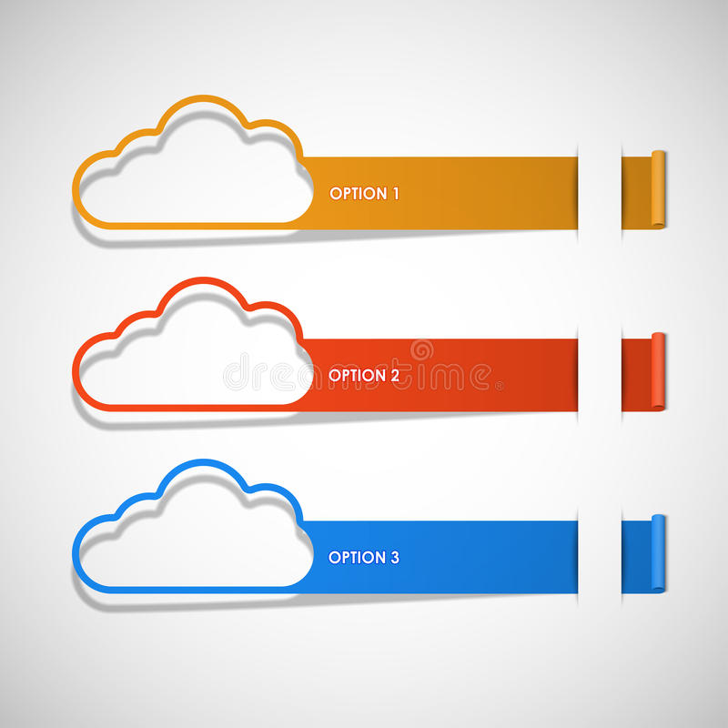 De vector van het de wolkenthema van opties stock illustratie