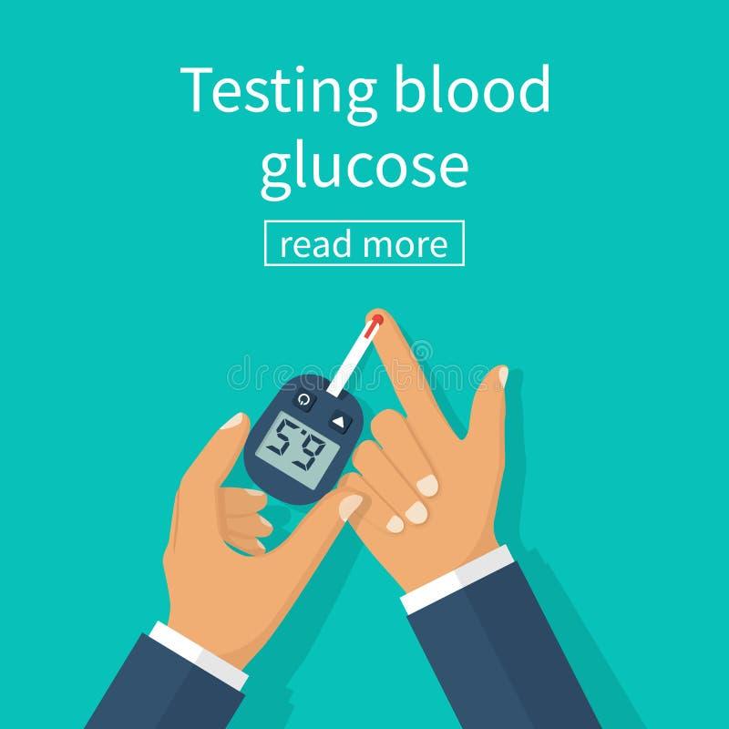 De vector van het diabetesconcept royalty-vrije illustratie