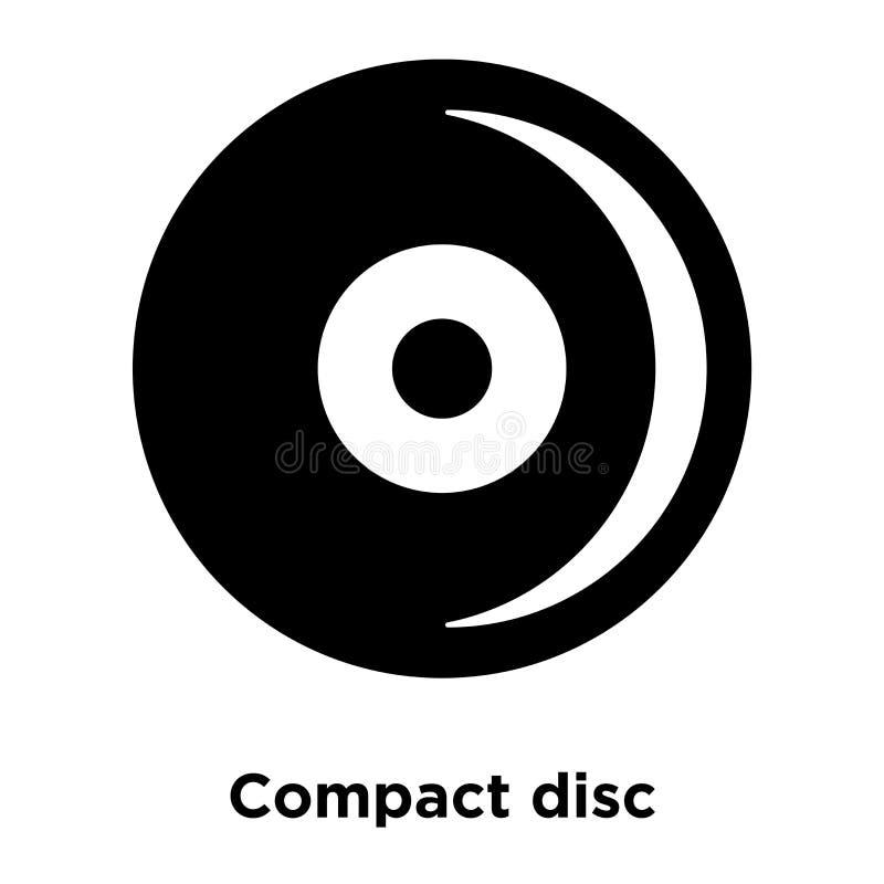 De vector van het die compact discpictogram op witte achtergrond, conc embleem wordt geïsoleerd stock illustratie