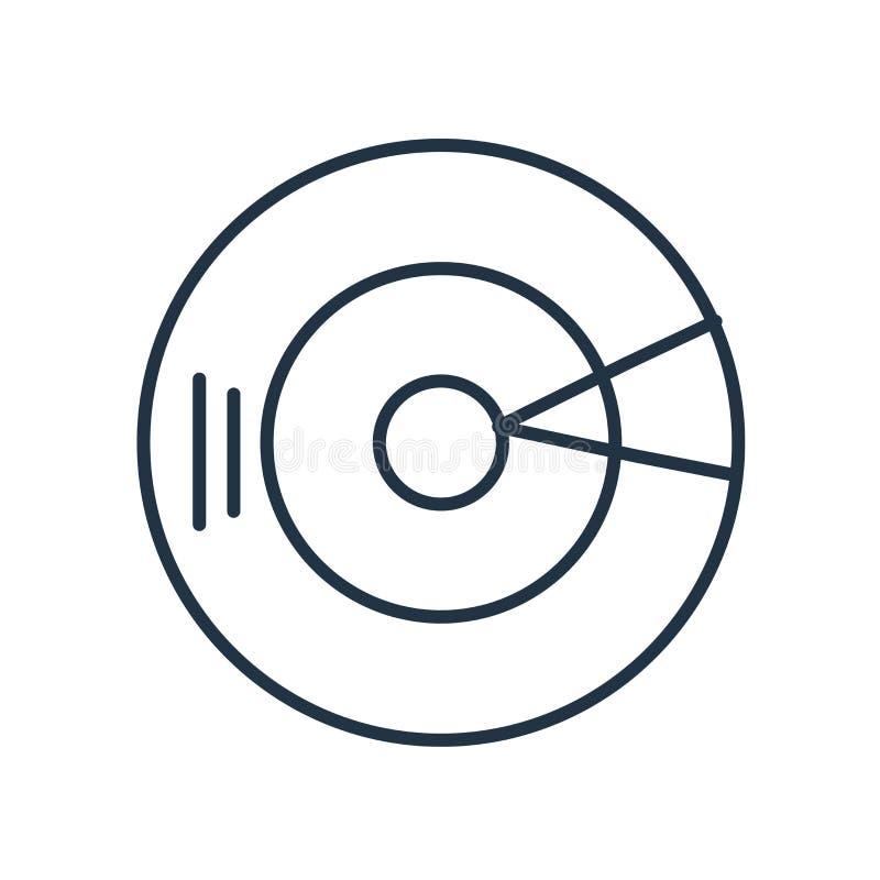 De vector van het die compact discpictogram op witte achtergrond, compact discteken wordt geïsoleerd vector illustratie