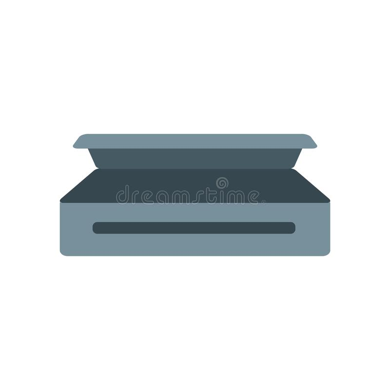 De vector van het doodskistpictogram op witte achtergrond, Doodskistteken, c wordt geïsoleerd dat vector illustratie