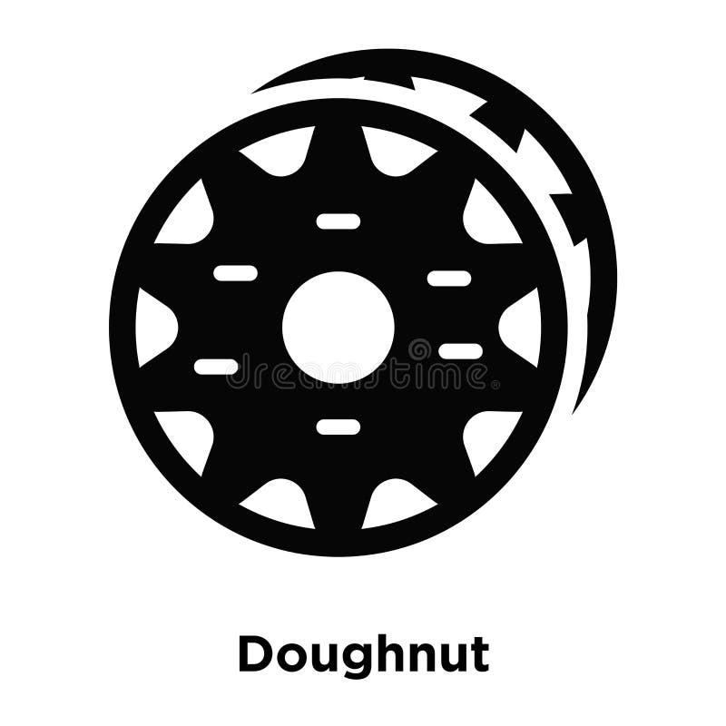 De vector van het doughnutpictogram op witte achtergrond, embleemconcept wordt geïsoleerd dat stock illustratie