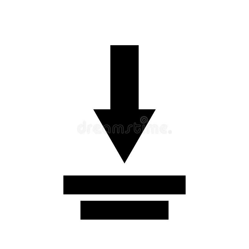 De vector van het downloadpictogram Het vlakke symbool van de pictogramdownload Upload knoop vectorillustratie vector illustratie