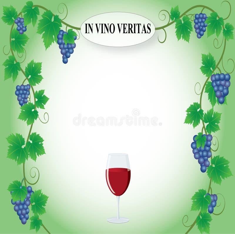 De vector van het druivenkader stock illustratie