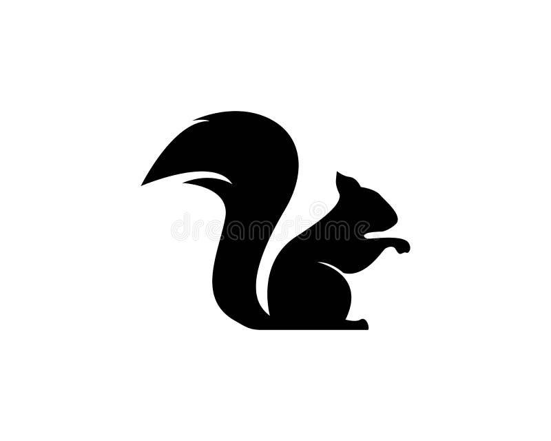 De vector van het eekhoornembleem royalty-vrije illustratie