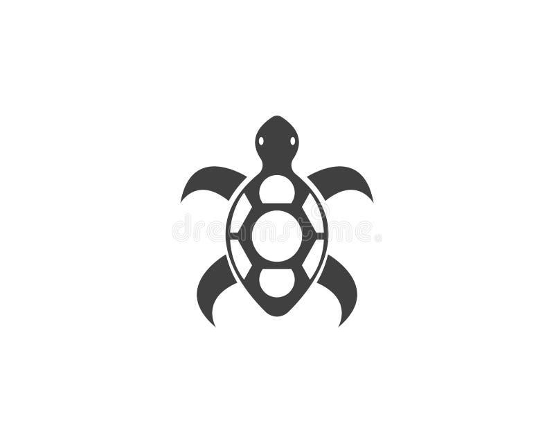 De vector van het het embleemontwerp van het schildpadpictogram royalty-vrije illustratie