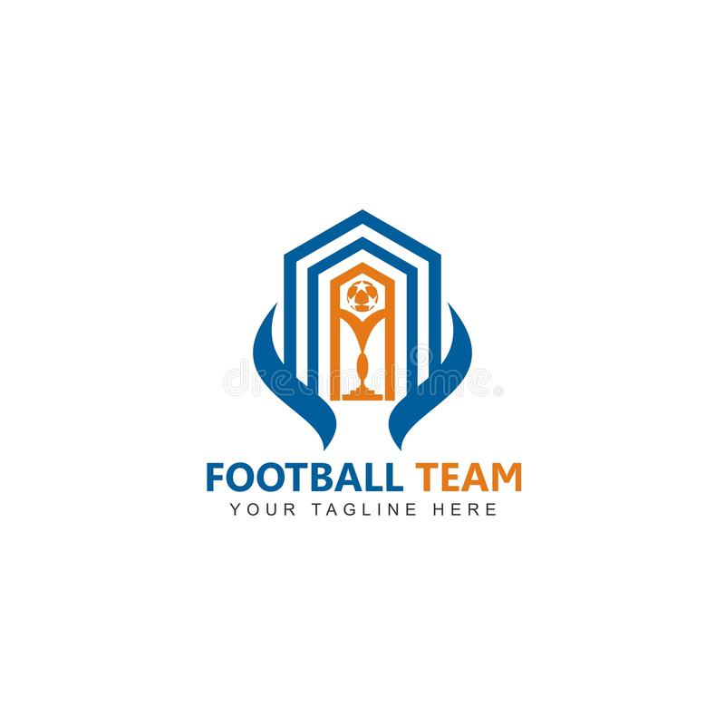 De vector van het het embleemontwerp van het voetbalteam royalty-vrije illustratie