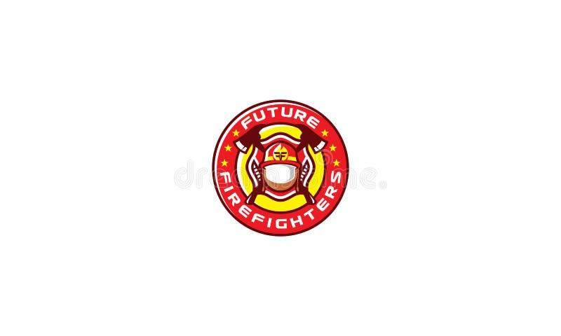 De vector van het het embleempictogram van het brandbestrijdersembleem vector illustratie