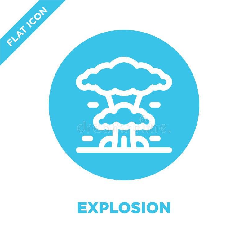 De Vector van het explosiepictogram De dunne van het het overzichtspictogram van de lijnexplosie vectorillustratie explosiesymboo vector illustratie