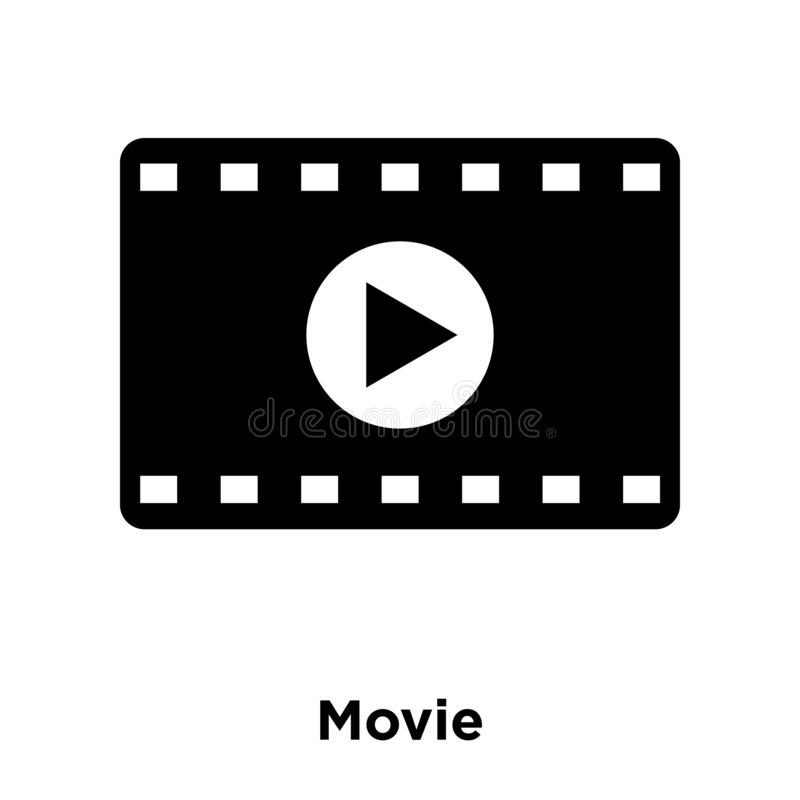 De vector van het filmpictogram op witte achtergrond, embleemconcept wordt geïsoleerd dat van vector illustratie