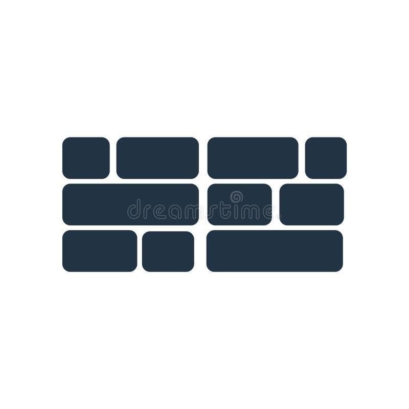 De vector van het firewallpictogram op witte achtergrond, Firewallteken wordt geïsoleerd dat royalty-vrije illustratie