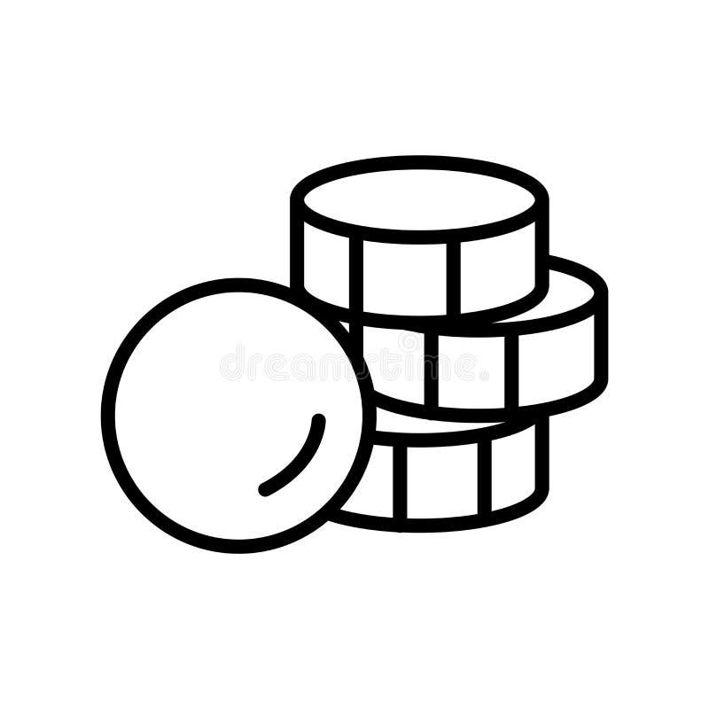 De vector van het geldpictogram op witte achtergrond, Geldteken, lijnsymbool of lineair elementenontwerp wordt geïsoleerd in over stock illustratie