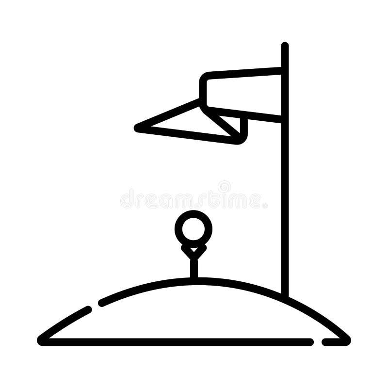 De vector van het golfpictogram royalty-vrije illustratie