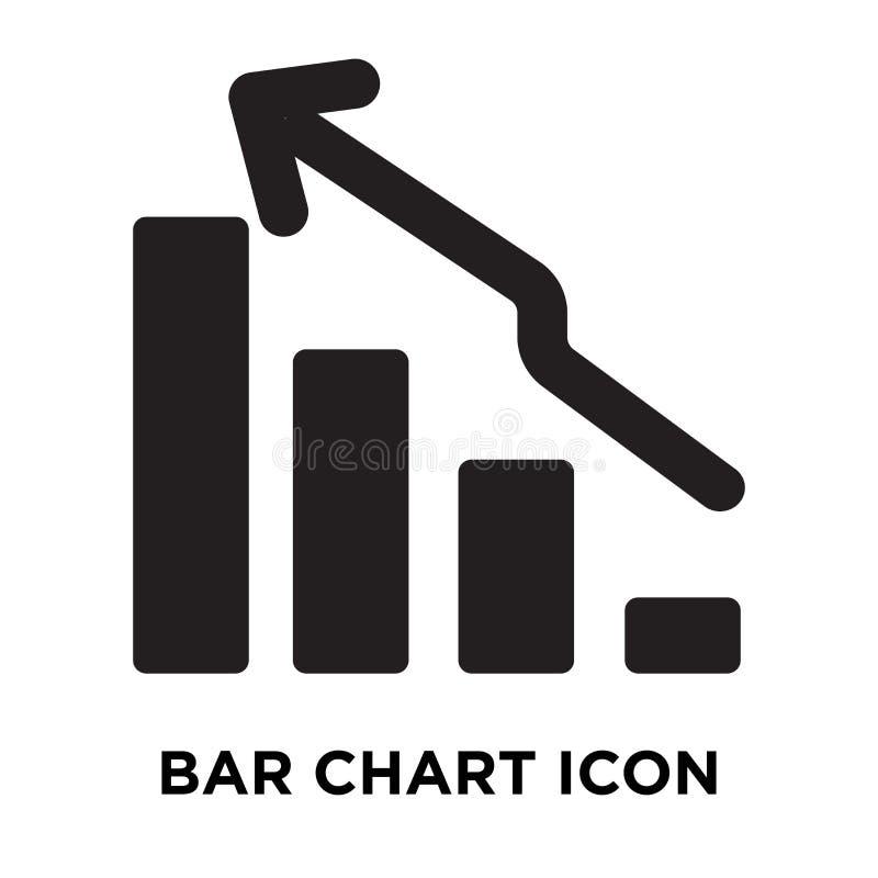 De vector van het grafiekpictogram op witte achtergrond, embleemconcept wordt geïsoleerd dat stock illustratie