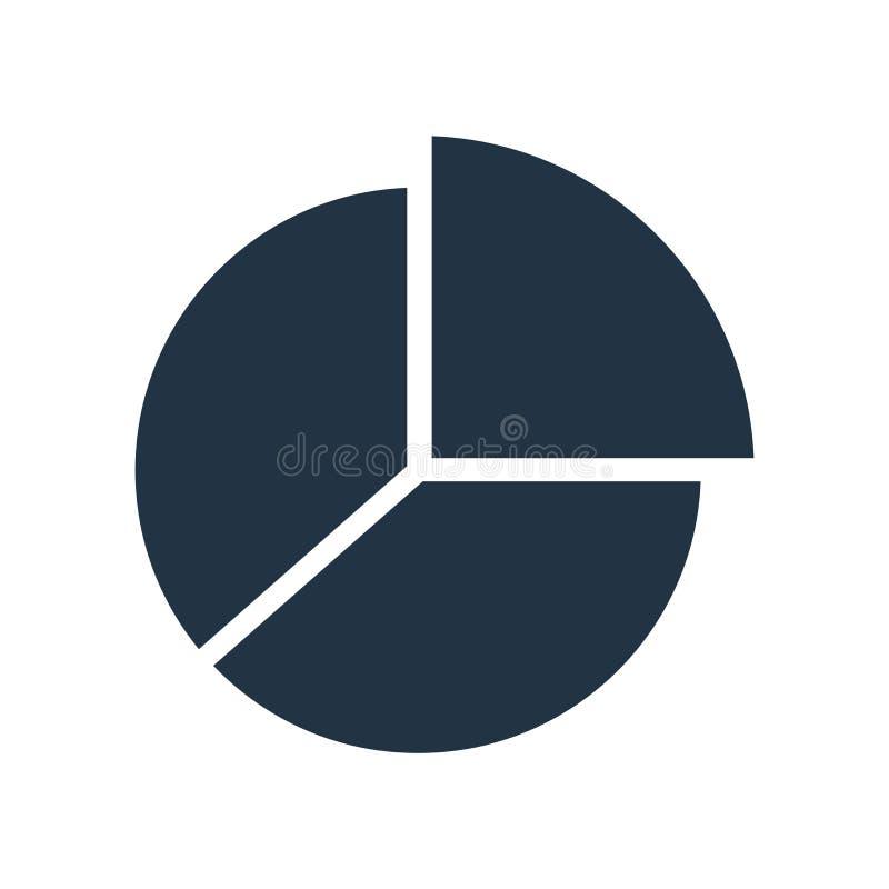 De vector van het grafiekpictogram op witte achtergrond, Grafiekteken wordt geïsoleerd dat royalty-vrije illustratie