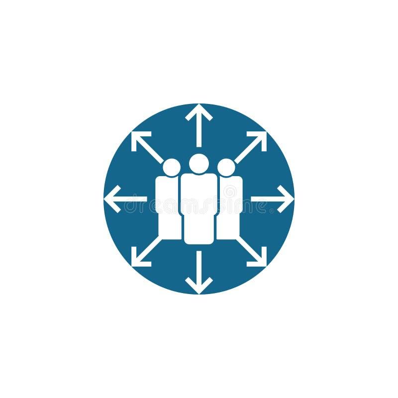 De vector van het groepspictogram de illustratie van groepsvectorafbeeldingen stock illustratie