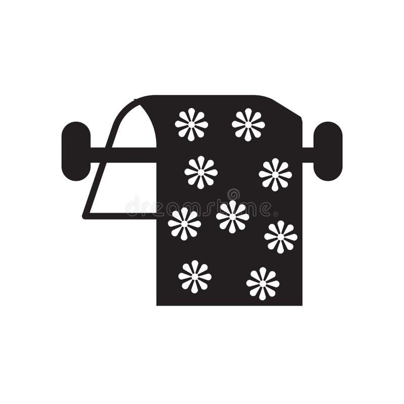 De vector van het handdoekpictogram op witte achtergrond, Handdoekteken, vakantiesymbolen wordt geïsoleerd dat vector illustratie