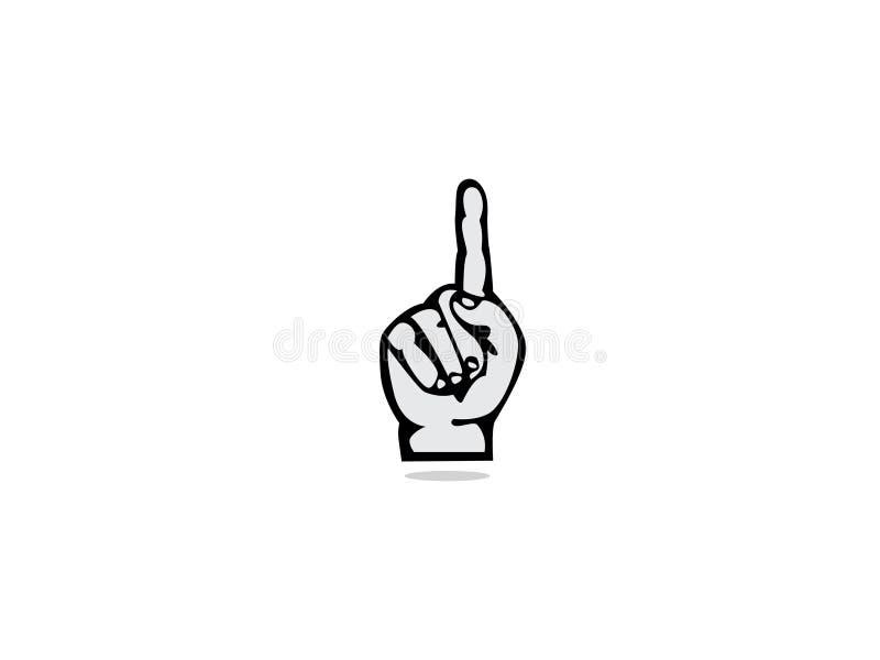 De vector van het de handembleem van de duimvinger Eenheidssymbool Bedrijfpersoneel Openbare organisatie Goede verhouding stock illustratie