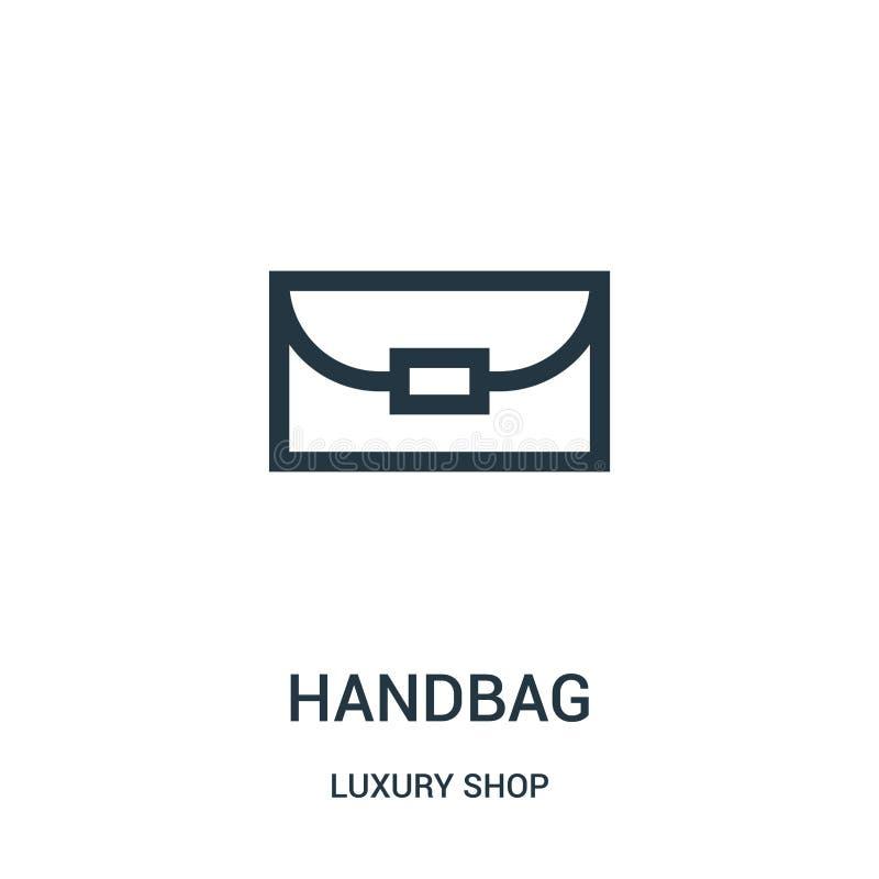 de vector van het handtaspictogram van de inzameling van de luxewinkel De dunne van het het overzichtspictogram van de lijnhandta stock illustratie